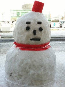 雪だるま 大雪