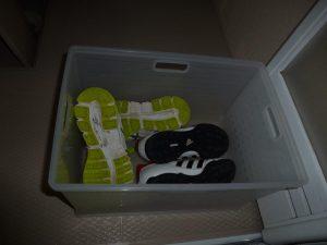 靴を漬け置き洗い
