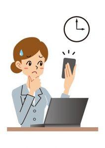パソコン スマホ 困る女性